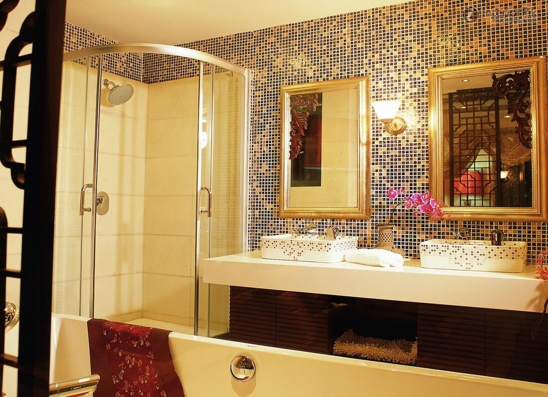 Картинки ванна из мозаики