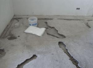 ремонт пола - бетон