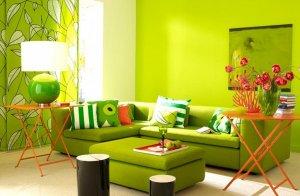 ремонт квартиры в Севастополе в зеленом цвете
