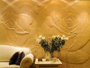 внутренняя отделка стен декоративной штукатуркой
