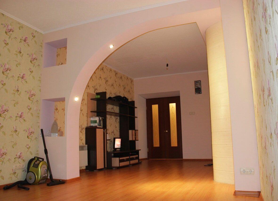 арка из гипсокартона - фото