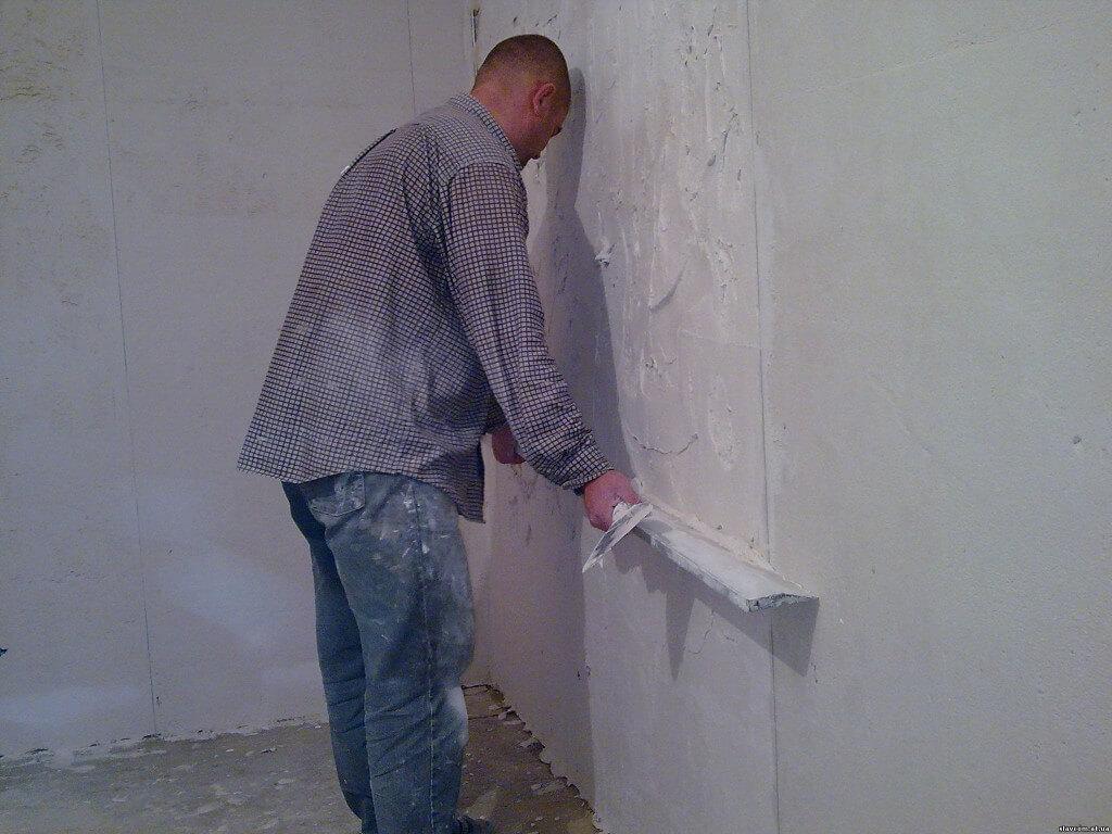 выравнивание стен - фото