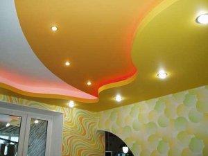 покраска потолков - фото