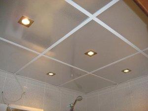 отделка потолка - модульные потолки - фото