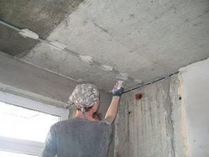 шпатлевка потолка - фото