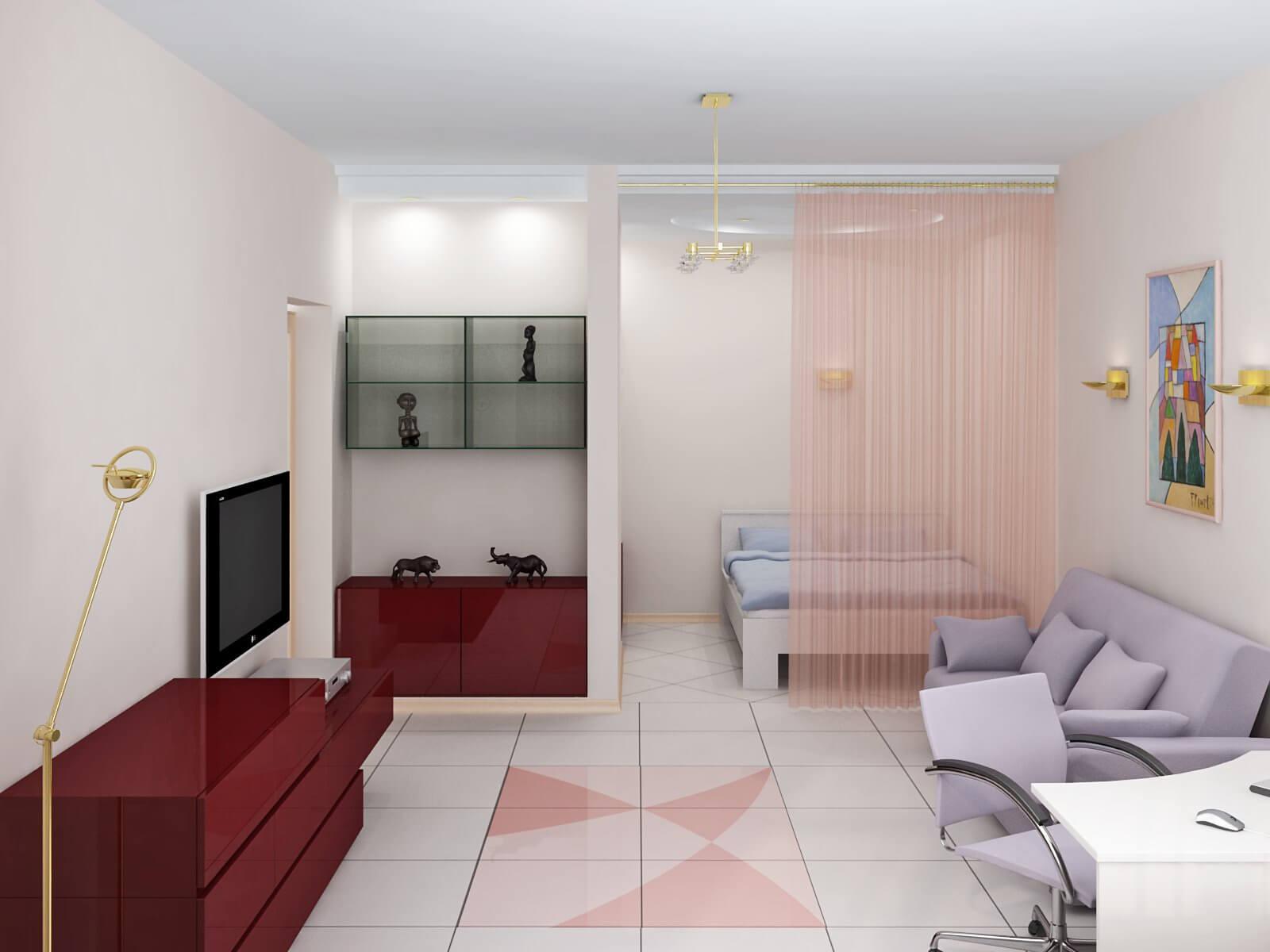 отделка 1-комнатной квартиры
