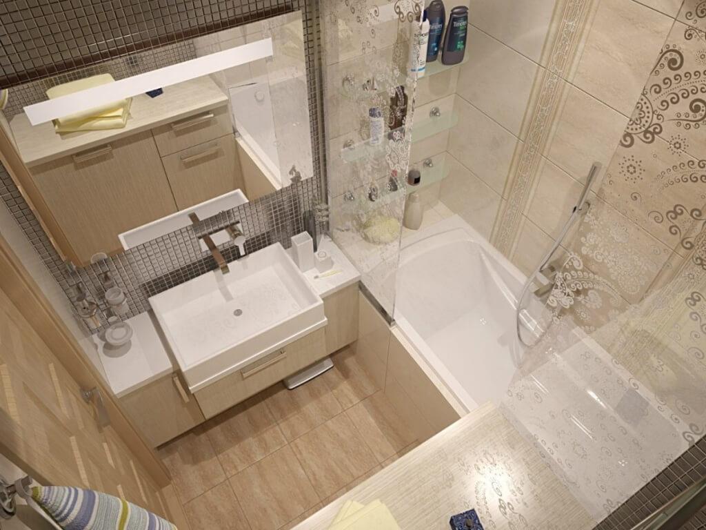 плитка в маленькую ванную