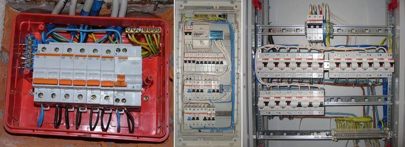 сборка распределительного электрощита