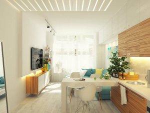 интерьер студии 20 кв. м
