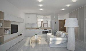 дизайн проект однокомнатной квартиры студии