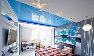 голубой натяжной потолок в севастополе