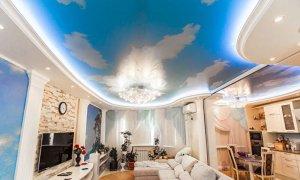голубой потолок небо