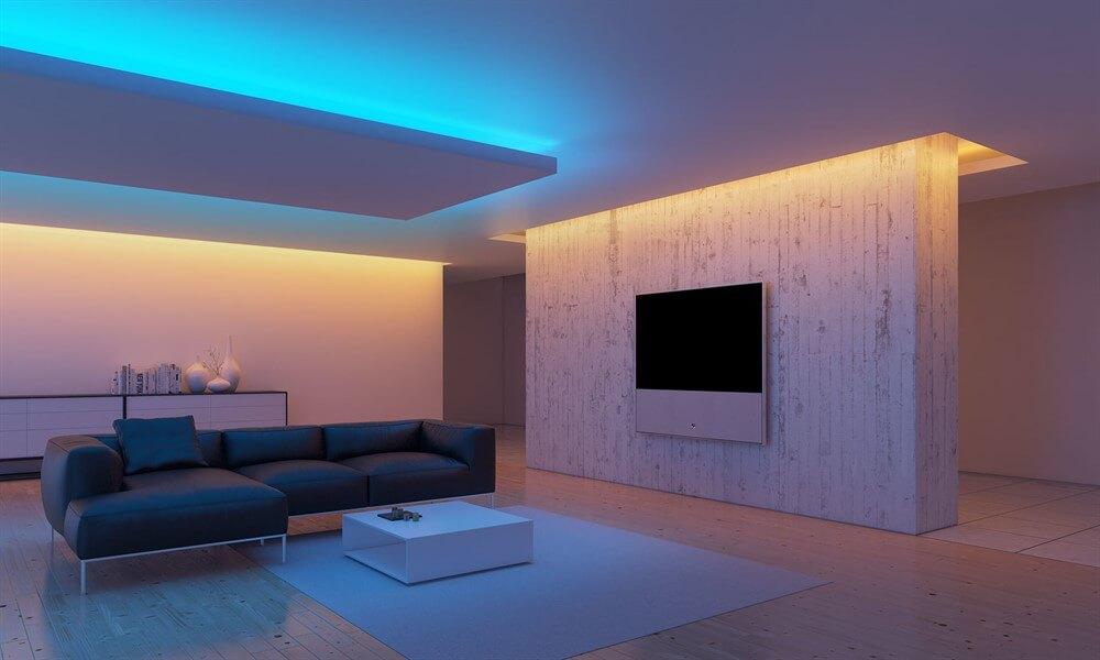 натяжной потолок со светодиодной лентой