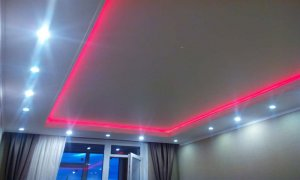 натяжной потолок со светодиодной подсветкой Севастополь