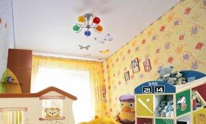 матовый натяжной потолок в детской комнате