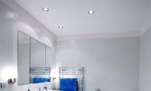 сатиновые потолки в ванной комнате