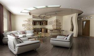 потолок натяжной в частном доме
