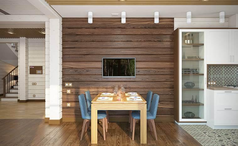 отделка стен кухни ламинированными досками